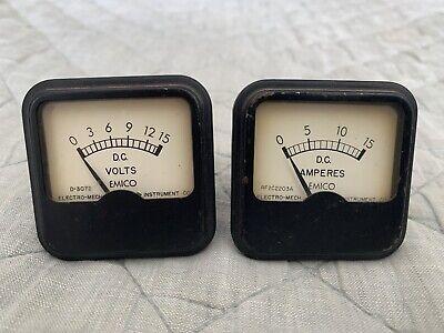 Vintage Emico Dc Panel Meters 1960
