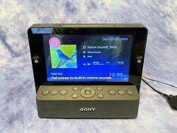 Sony Dream Machine ICF-CL75IP iPhone iPod AM FM Alarm Clock Radio 7 LCD Screen
