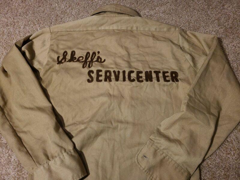 Vtg Emroidered Gas Station Service Attendant Big Mac Shirt 1950s 60