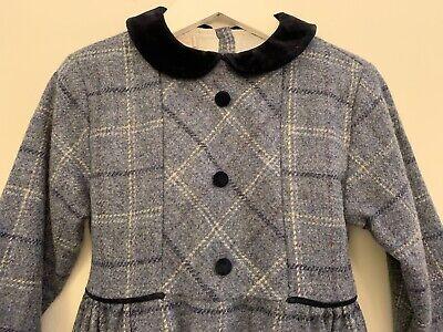 La Stupenderia Wool & Velvet Trim Dress Girls Size 5 *Retail Over $300