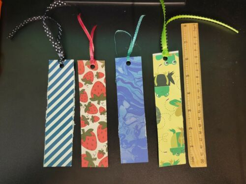 3 Bookmarks made by my 8 year old daughter