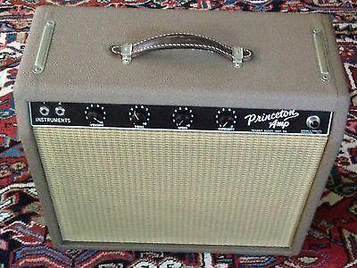 1962 Vintage Fender Brown Princeton Amplifier Collector Quality Amp