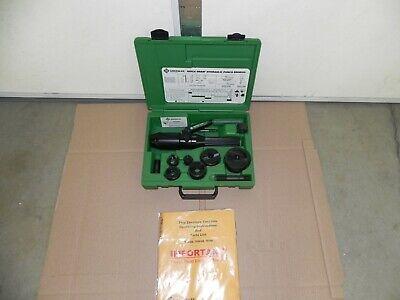 New Greenlee 7804sb Quick Draw Hydraulic Punch Drivernew 12 To 2 Ko 7806sb
