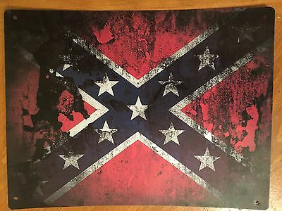 Tin Sign Vintage Flag