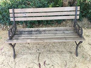 Wooden outdoor bench seat Brownlow Hill Wollondilly Area Preview