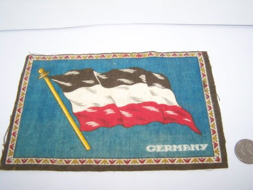 "c.1915 GERMANY FLAG FLANNEL CIGARETTE PACK TOBACCO FELT ANTIQUE 8.25"" x 5.25"""