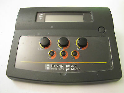Hanna Instruments Ph209 Benchtop Phmv Meter Ph 209-01 Bench Top