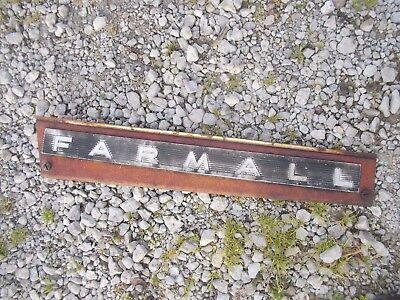 Farmall 706 Tractor Ih Ihc Front Left Hood Skirt White Panel Emblem Sp Bolts