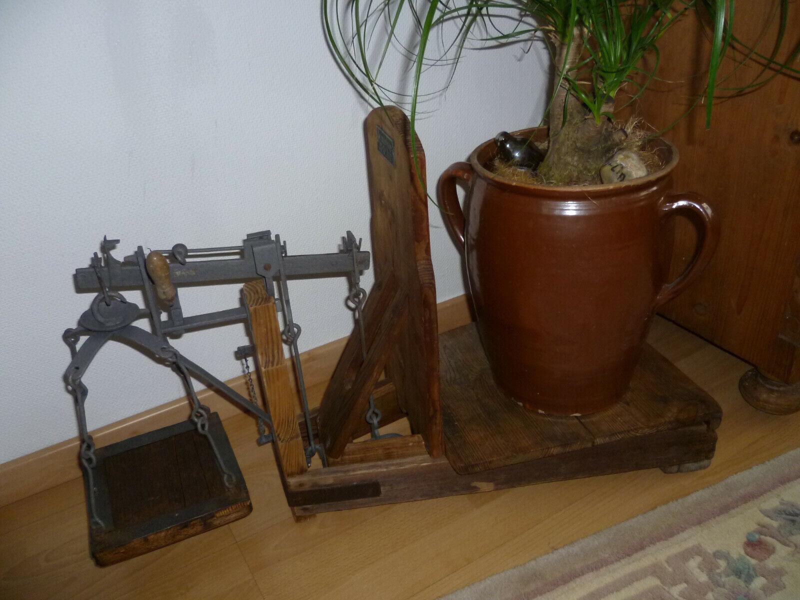 antike Dezimalwaage 50 kg.