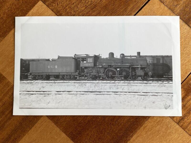 Chicago North Western Railroad Locomotive 464 Vintage Photo C&NW