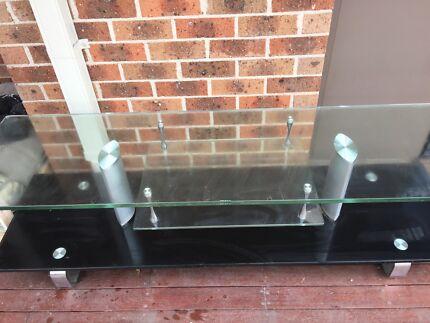 Glass entertainment unit