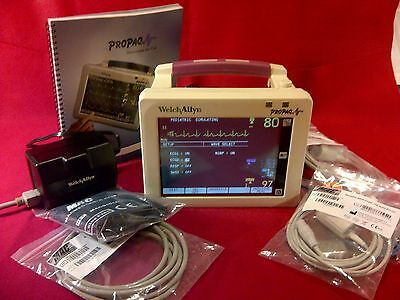 Welch Allyn Propaq 242 Cs Patient Monitor Spo2 Nibp Temp Ecg 1 Yr Warranty Cert