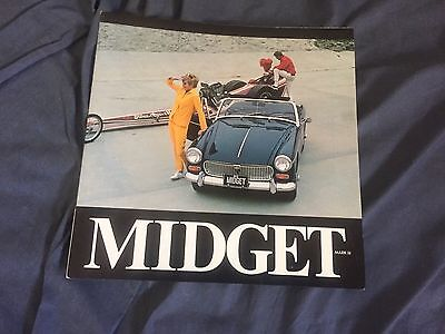 1977 MG Midget USA Market  Roadster Color Original Brochure Prospekt