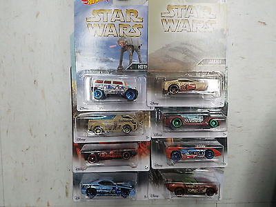 Hot Wheels Star Wars Set of 8 Hot Wheels Cars Celebrating Planets Of The Series!