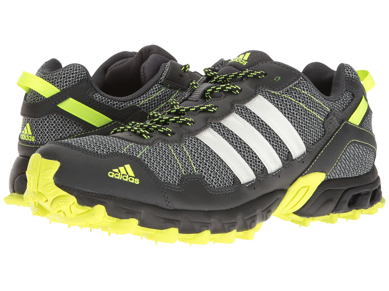 Mens Adidas Rockadia Trail Grey Sport Athletic Running Shoes BY1789 Size 8 ea682a3cb5