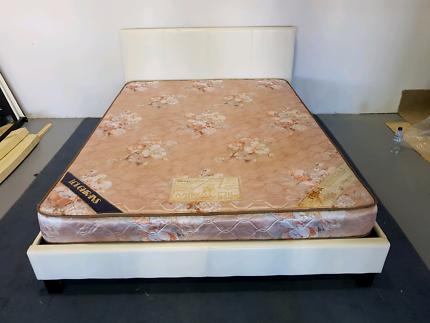 Queen frame & mattress