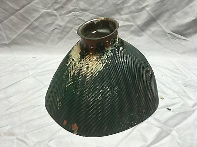 Vtg Industrial Green X-Ray Mirrored Mercury Glass Light Fixture Shade 153-18E for sale  Shipping to Canada