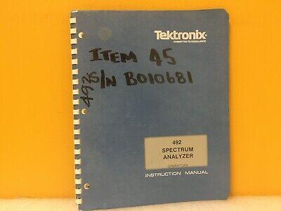 Tektronix 070-2726-01 492 Spectrum Analyzer Operators Instruction Manual
