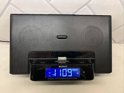 SONY iPod Alarm Clock Radio Speaker Dream Machine Dock ICF-CS15iP  No Remote.