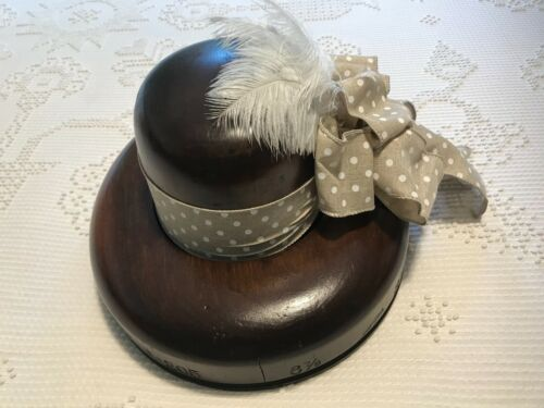 Hoff-man Vintage Wood Block Mold Millinery Hat Form