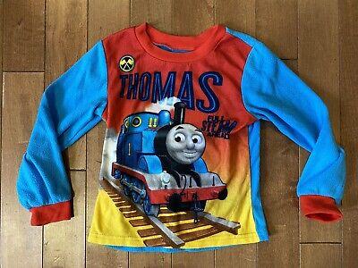 Thomas The Train Tank Engine Pajama Top Shirt Size 5 Blue Red Full Steam Ahead