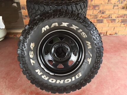 Maxxi Boghorn Mud Terrains and rims suit BT50/ranger Southport Gold Coast City Preview