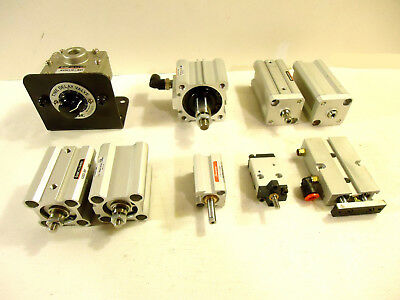 Smc Humphrey Pneumatic Cylinders And Valve 9 Pcs 1 Lot Used.