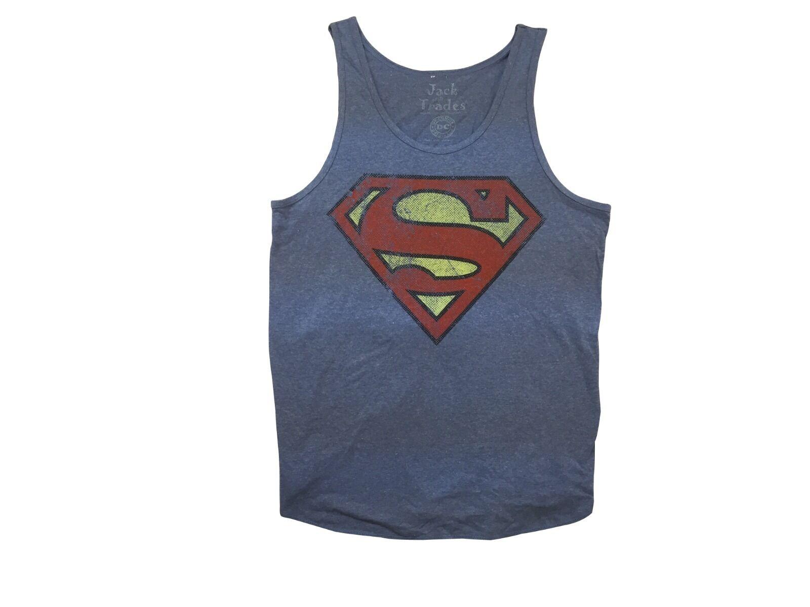 Superman Classic Logo DC Comics Adult Black Tank Top