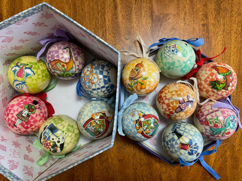 2006 JIM SHORE Heart Creek Box Set of 13 Ornaments 12 Days of Christmas *