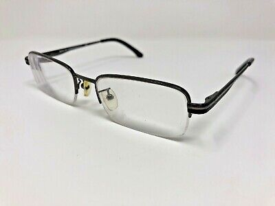 Essential Eyewear Eyeglass Frames EN1129 Gunmetal/Black 52-19-140 Half-Rim XU56