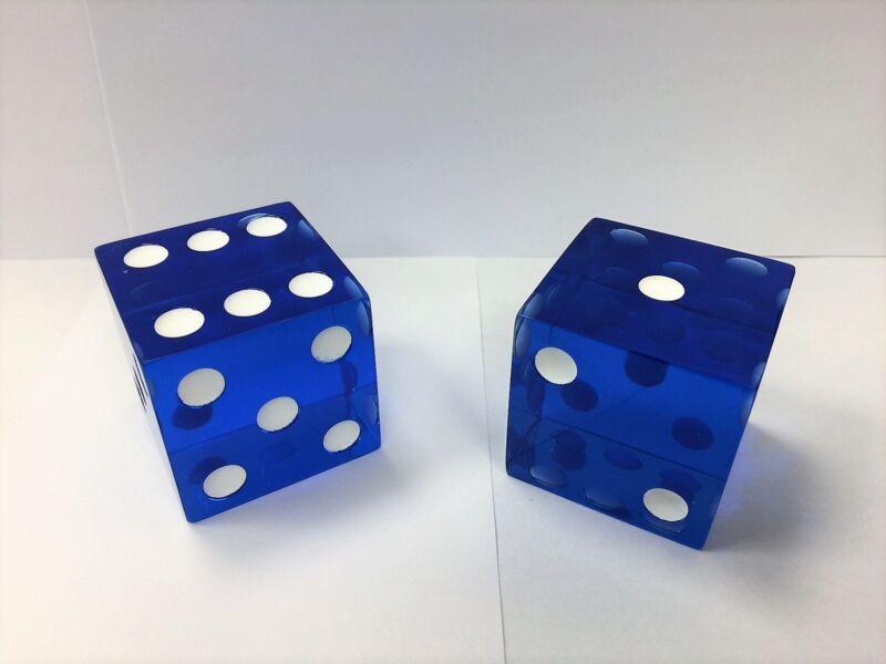 "2"" Jumbo Transparent Blue Unique Dice 50mm (Set of 2)"