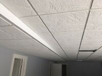 Suspended ceiling systems and blinds
