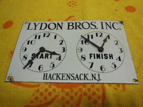 Vintage Lydon Bros. Porcelain Oven Timer with Clock Hands 1960