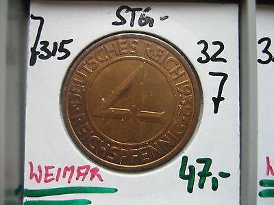 J315  4 Reichspfennig 1932 J in STG-