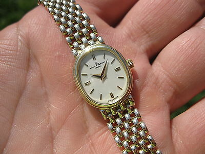 Baume Mercier SOLID 14K GOLD Ladies Quartz Bracelet Watch! womens 27.6 grams ✅