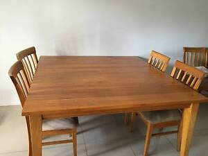 9 piece wooden dining setting Merrimac Gold Coast City Preview