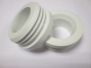WHITE RUBBER HEAVY DUTY FLUSH PIPE CONNECTOR FOR WC