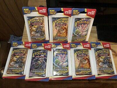 POKEMON SUN & MOON UNBROKEN BONDS BOOSTER PACK LOT! 8 PACKS! 1/4 OF BOOSTER BOX!
