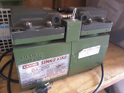 Ulvac Sinku Kiko Da-20d Diaphragm Vacuum Pump Excellent Condition Sale 369.00