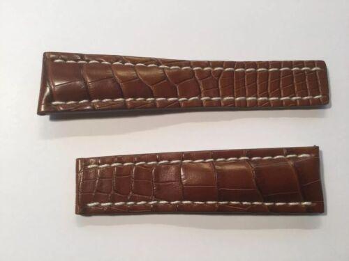 Breilting Armband , Lederband , Kroko,matt, Faltschließe 24 mm