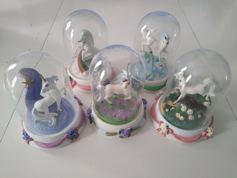 Franklin Mint Unicorn Lot Rainbow of Love Wonder Wisdom Dreams & Enchantment