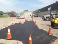 Hot Asphalt Repairs driveways & parking lots