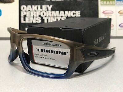 Oakley Turbine Navy Mist Blue Frame w/ Gunmetal Icons SKU# 9263-5263 - NIB Frame