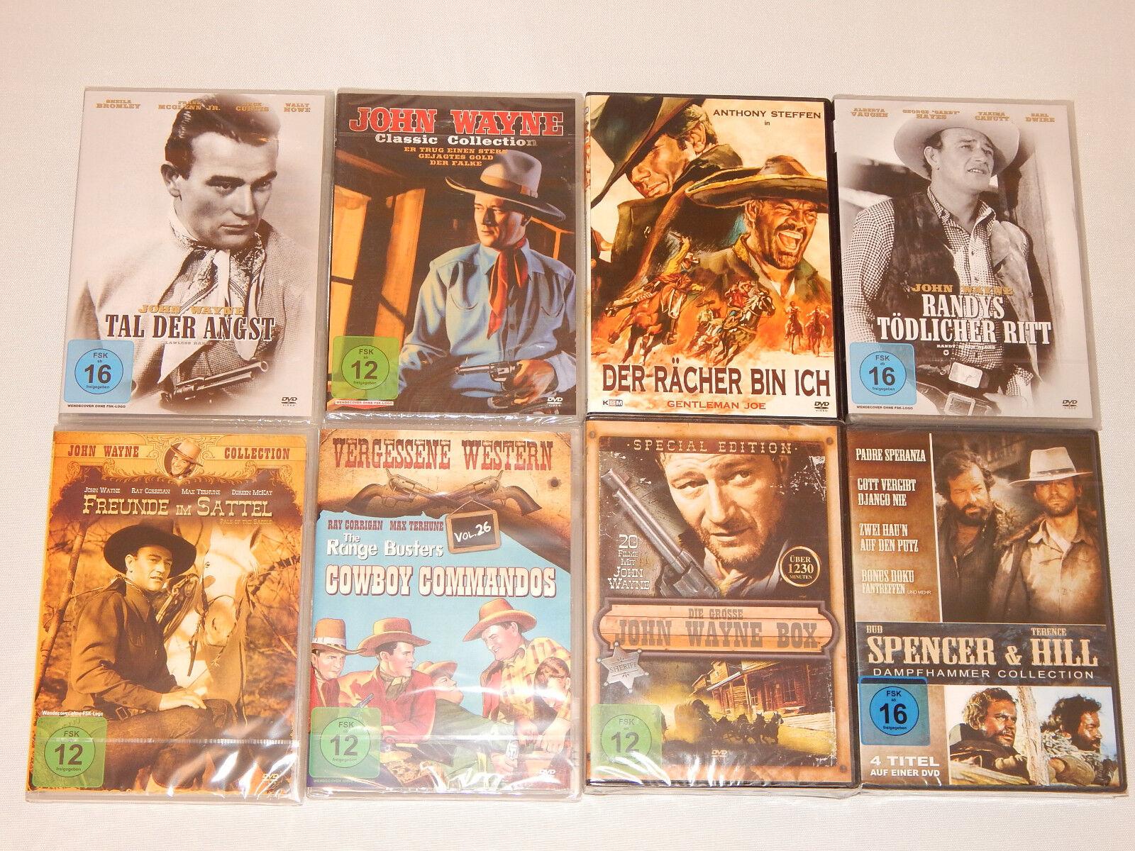 30 FILME WESTERN JOHN WAYNE BUD SPENCER KLASSIKER DVD BOX COLLECTION SAMMLUNG !