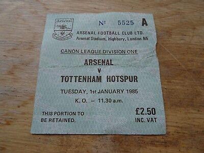 Ticket Arsenal v Tottenham Div 1 Jan 1st 1985