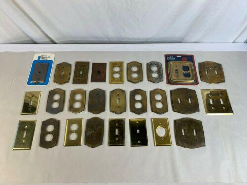 Lot of 26 Cover Plates - mostly Brass