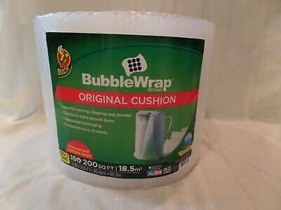 Duck Brand Original Bubble Wrap Cushioning 12 In X 200 Ft - Clear Fast Free Ship