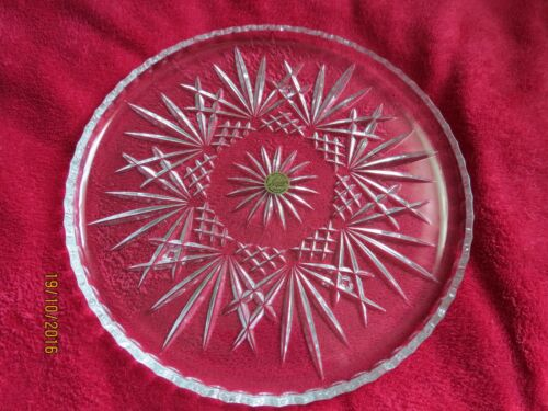 crystal plate & silver server from France