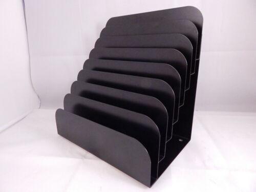 MMF Industries Steel Cashier Pad Document Rack, 8 Pockets, Black (MMF267060804)