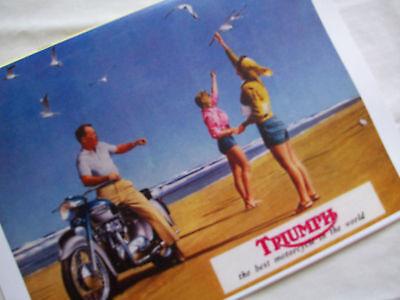 TRIUMPH 1961 MOTORCYCLE SALES BROCHURE 3TA, 5TA, T100A, TR5A/C, TR6R, T110, T120
